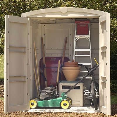 Suncast Vinyl Backyard Storage Shed - 5.5 ft x 5.5 ft - GS8000 .