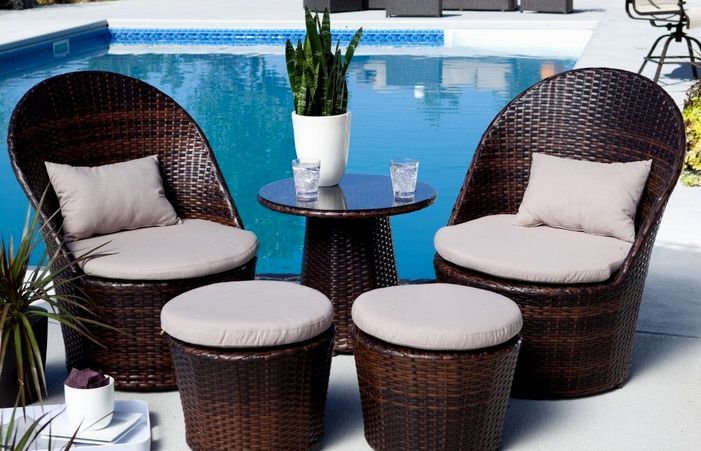 Small Patio Eva Furniture Arrangement Outdoor Dining Backyard .