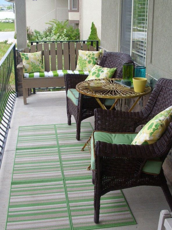 apartment balcony furniture … | Small porch decorating, Porch .