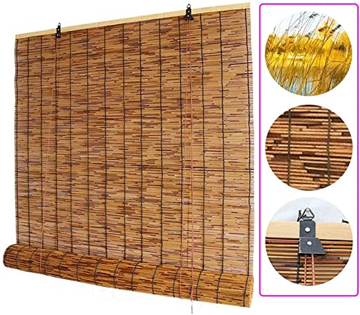 Amazon.com: Xyl Roller Blinds Natural Reed Window Bamboo Blind .