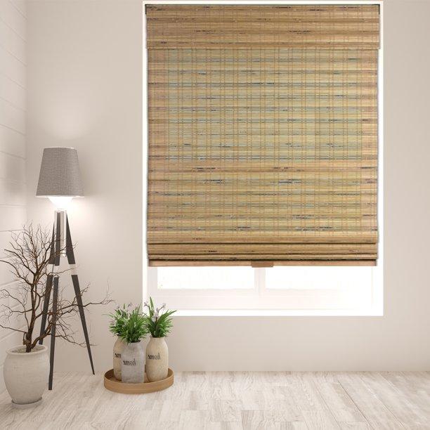 Arlo Blinds Cordless Tuscan Bamboo Roman Shade - Walmart.com .