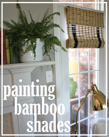 Painted Bamboo Shades In Our Living Room | Bamboo shades, Painted .