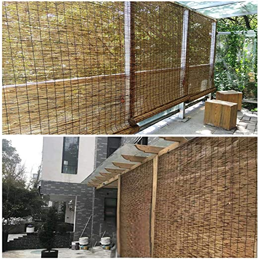 Amazon.com: YUANJJ Bamboo Shades Roll Up Shutters, Japanese Style .