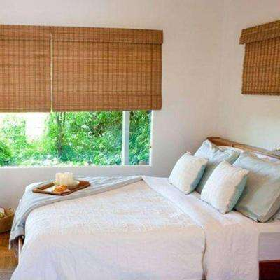 Dark Brown Wood - Bamboo Shades - Shades - The Home Dep