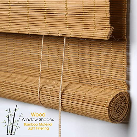 Amazon.com: Bamboo Window Shades Blinds, Premium Custom Natural .