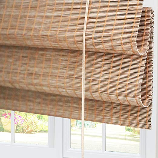 Amazon.com: Bamboo Roman Window Shades Blinds, 20W x 36H Inches .