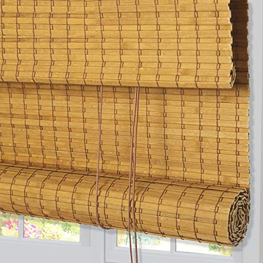 Amazon.com: ZY Blinds Bamboo Window Blinds, Light Filtering Roll .
