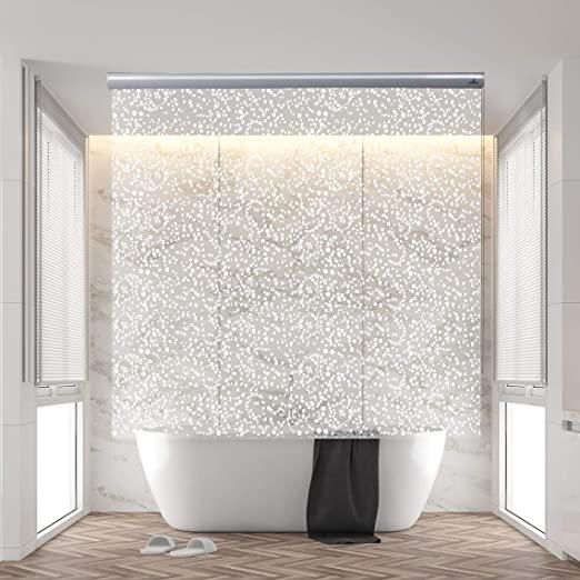 Amazon.com: Jakooz Rollup Shower Curtain for Bathroom. Waterproof .