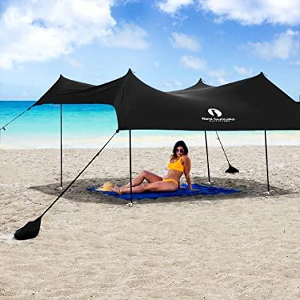 Amazon.com : Red Suricata Family Beach Sunshade - Sun Shade Canopy .