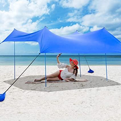 Amazon.com: Tangkula Family Beach Sunshade, UPF50+ Sun Shade Tent .