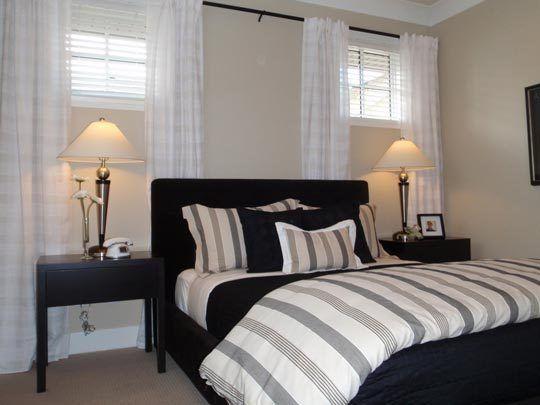 4 Basement Bedroom Beauties   Window treatments bedroom, Basement .