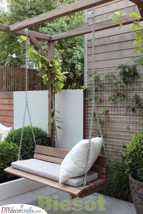A Romantic Spot - A Garden Swing Seat | Garden swing seat, Roof .