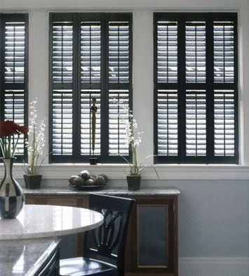 black window shutters - Google Search | Interior windows, Wood .