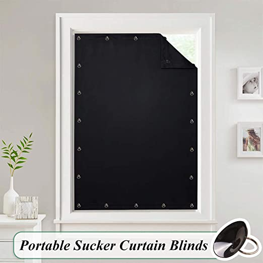 Amazon.com: Temporary Blackout Blinds Curtain for Window - Travel .