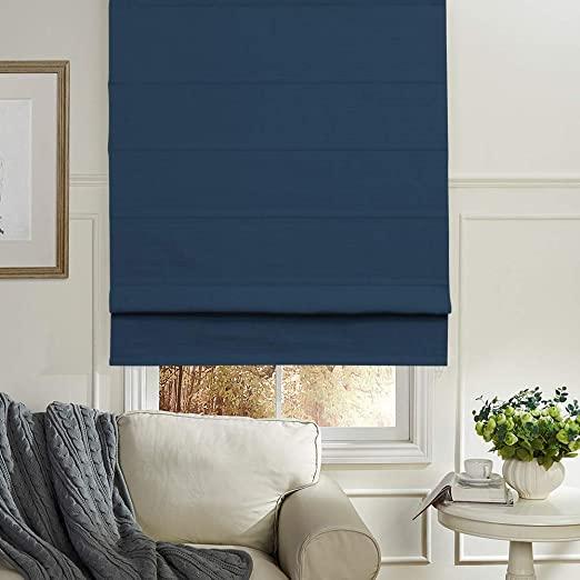 Amazon.com: Artdix Roman Shades Blackout Window Shades - Navy Blue .