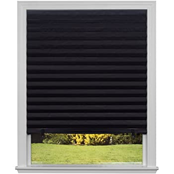 """Original Blackout Pleated Paper Shade Black, 36"""" x 72"""", 6-Pack ."""