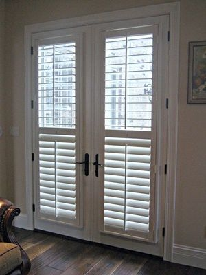 DIY Double Doors a.k.a French Doors Ideas | Patio door blinds .