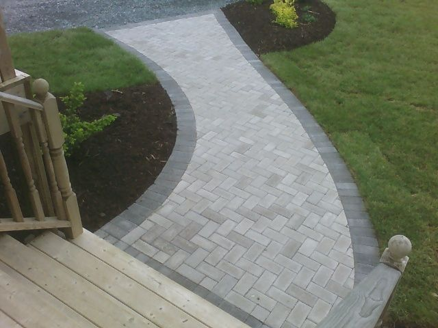 Image result for block paving curve | Pavers backyard, Pathway .