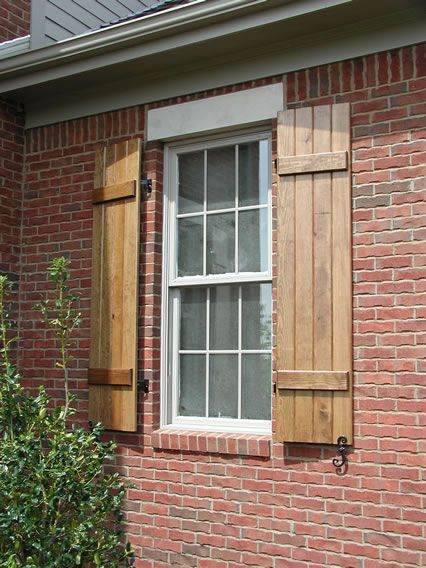 Cedar Board and Batten Shutters This is what I want for my house .