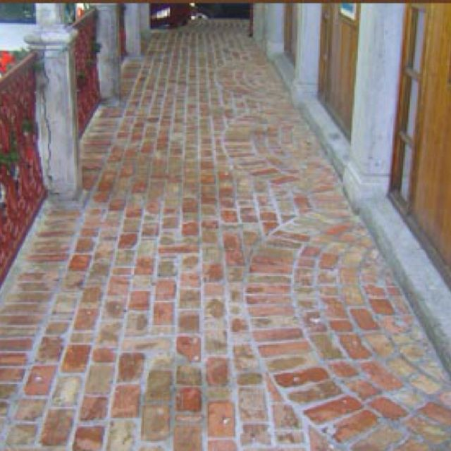 Old Chicago brick pavers on porch. | Reclaimed brick patio, Brick .