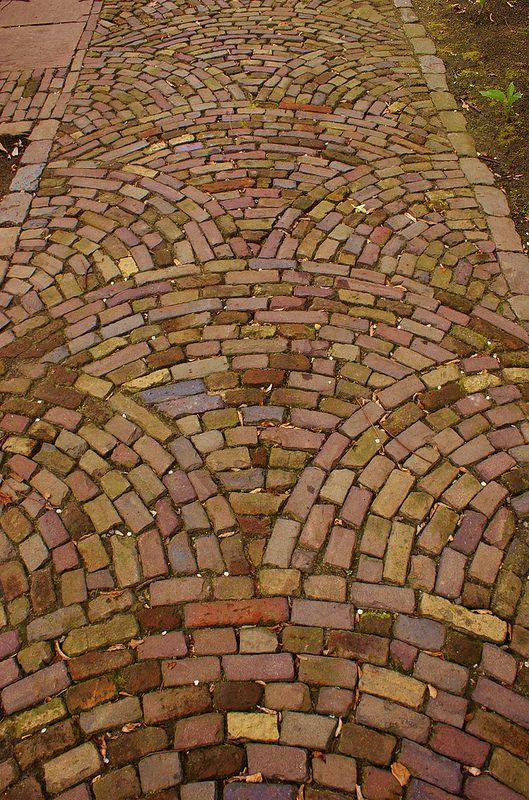 Brick paving patterns | Brick paving, Brick garden, Paving patte
