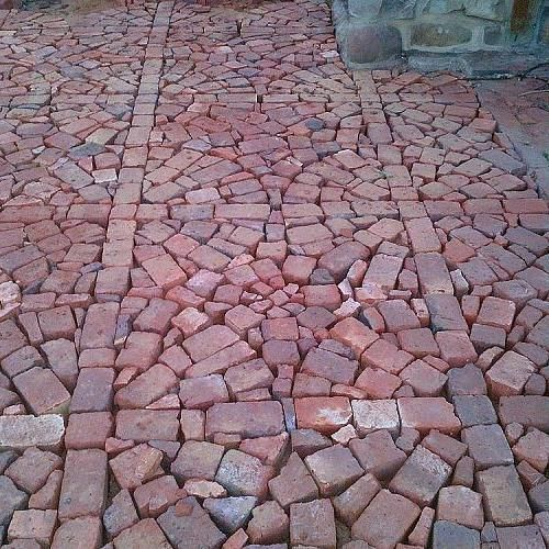 Paving With Broken and Half Bricks | Brick patterns patio, Brick .