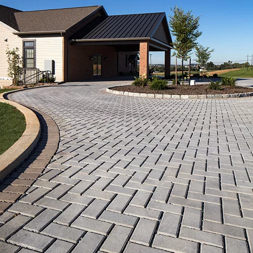 Permeable Driveway in 2020 | Permeable pavers, Brick paving .