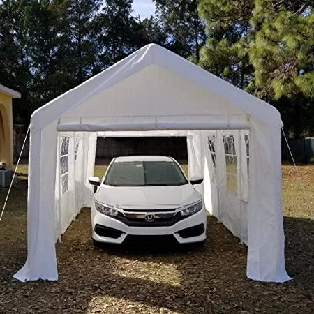 Amazon.com: Overwhelming 10'x20' Heavy Duty Carport Garage .