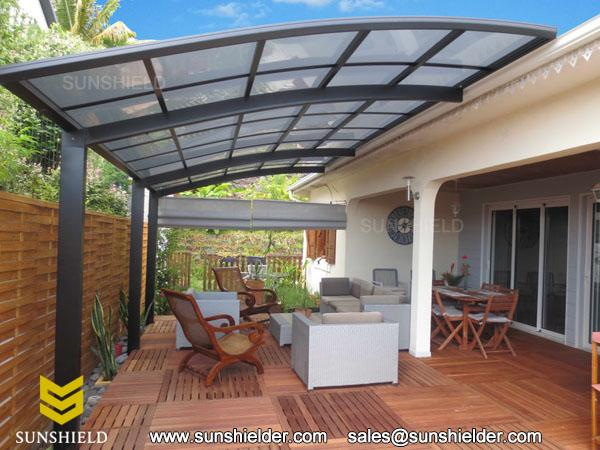 Sunshield Aluminum Patio Cover - Polycarbonate Porch Cover .