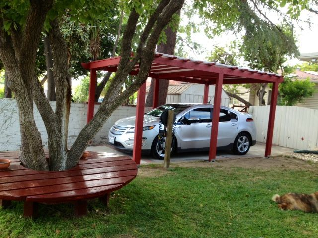 Ideas for an inexpensive carport that will withstand some wind .