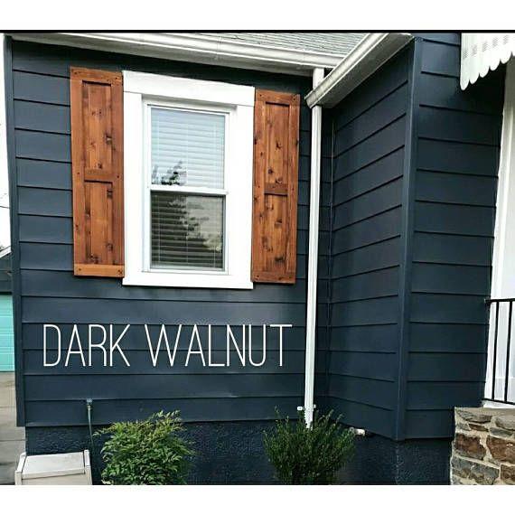 "Wood Shutters, Rustic exterior cedar shutters- ""Shaker Style"" in ."