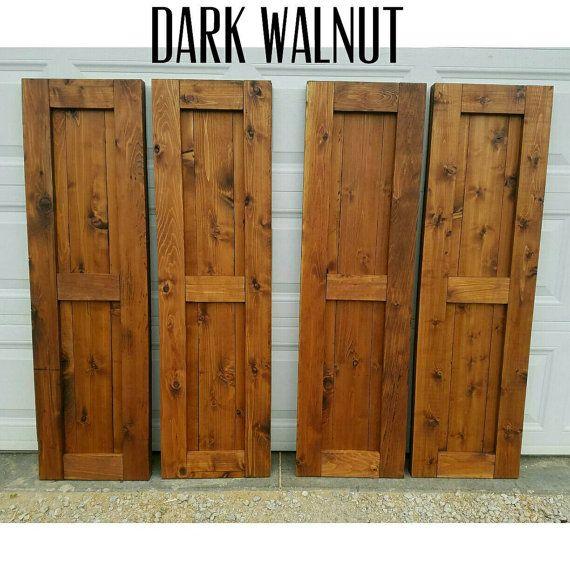 "Wood Shutters, Rustic exterior cedar shutters- ""Shaker Style ."