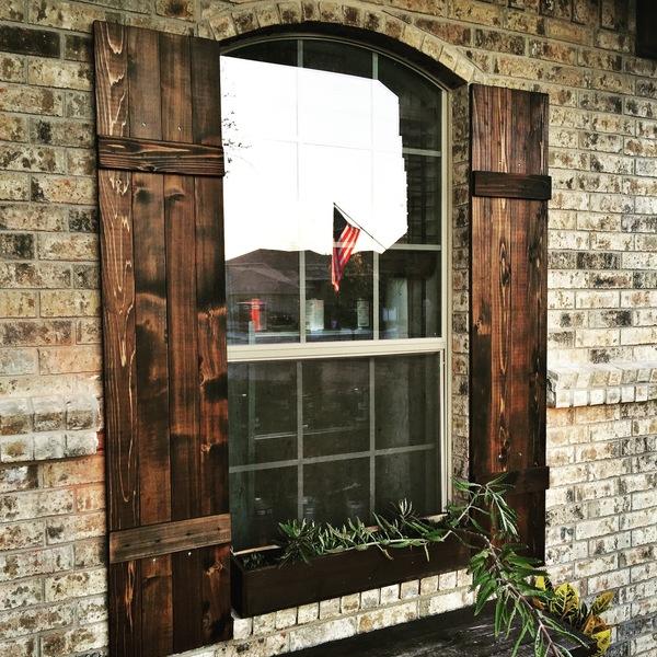 Outdoor cedar shutters - RYOBI Nation Projec