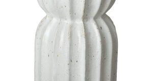 Emissary Lotus Distressed White Ceramic Garden Stool-1902WT - The .