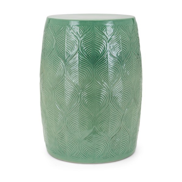 "18"" Round Green Ceramic Garden Stool - Wilford & Lee Home Accen"