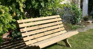 Luxury Outdoor Wooden Garden Park Bench 5 ft 150 cm Seats 3 .