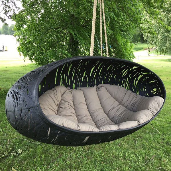 Modern Garden Swing Seat | BIOS ALPHA Luxury Swing Seat | [BLACK