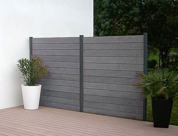 Vinyl privacy fence panels are made to easily attach to one side .