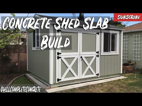 How to Pour a Concrete Shed Slab for Tuff Sheds DIY! - YouTu