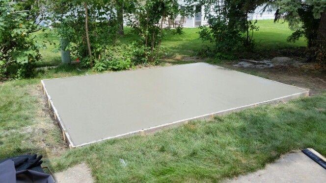 12X16 Concrete shed pad | Concrete sheds, Shed, Concre