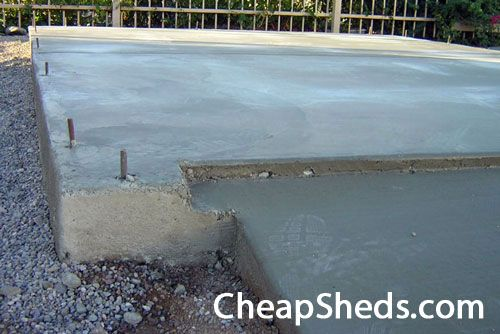Build Your Shed On A Concrete Slab | Concrete sheds, Building a .