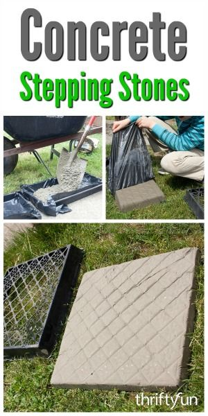 Making Concrete Stepping Stones | Concrete stepping stones, Patio .