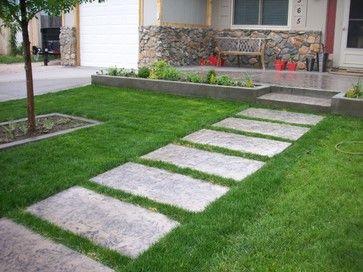 concrete stepping stones | Landscape Concrete Stepping Stones .