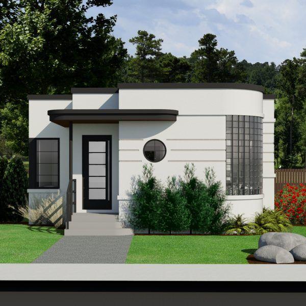 Contemporary Home Plans - Robinson Plans | Architektur, Minihaus, Ha