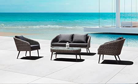 Amazon.com: Whiteline Modern Outdoor Living Taupe Waverly .