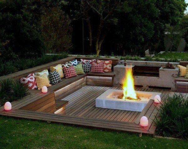 Top 60 Best Cool Backyard Ideas - Outdoor Retreat Designs | Fire .