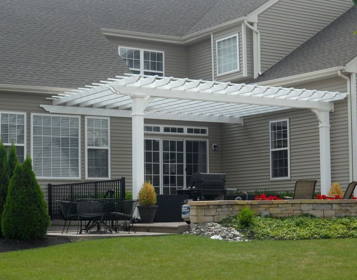 pergolas on a inside corner of house | Vinyl pergola, Free .