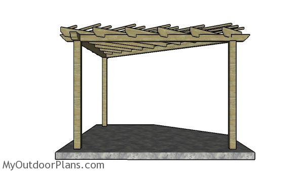 Corner Pergola Plans | MyOutdoorPlans | Free Woodworking Plans and .