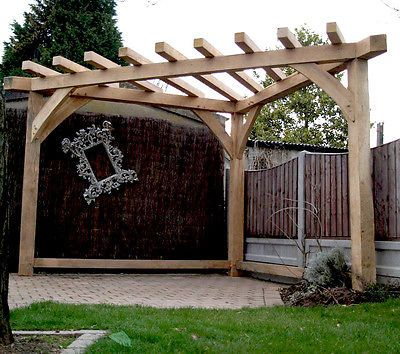 OAK PERGOLA HANDMADE Corner gazebo, large garden furniture, FRAME .