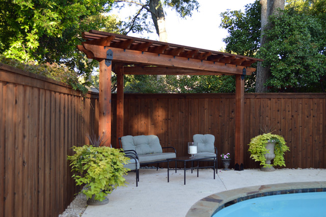 Corner Pergola (Project #334) - American Traditional - Patio .